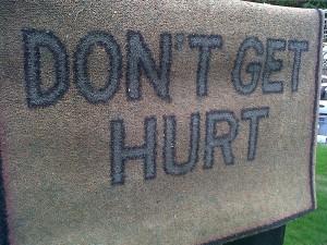 Don't Get Hurt doormat