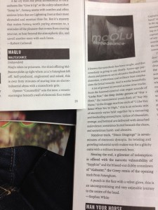 Discorder Magazine album review of maQLu's album Malfeasance