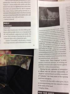 Discorder Magazine album review of maQLu's album Malfeasance