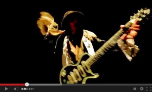 Andy McCoy, Grease Helmet music video [YouTube screenshot]
