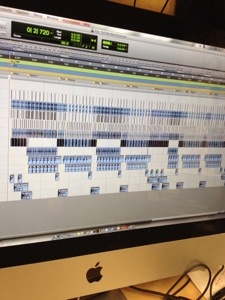 Drum samples tracks in ProTools, working on the new maQLu album