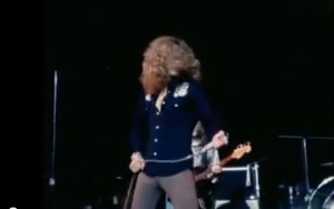 Robert Plant, Led Zeppelin live [YouTube screenshot]