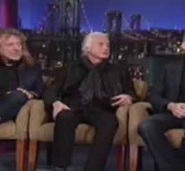 Led Zeppelin interview on David Letterman [YouTube screenshot]