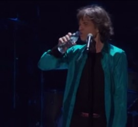 Mick Jagger the Rolling Stones live [YouTube screenshot]