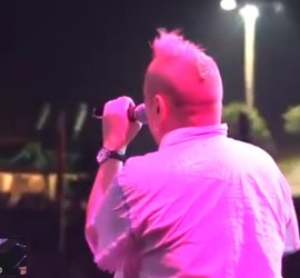 Johnny Rotten/John Lydon/Public Image Ltd. live [YouTube screenshot]
